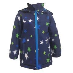 Outburst Jungen Softshelljacke Regenjacke Winddicht und Wasserdicht 10.000mm Wassersäule, dunkelblau, Sterne 8421102