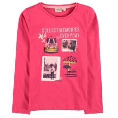 Garcia Mädchen Langarmshirt bedruckt-Pink-U04401