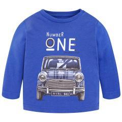 Jungen Shirt mit langen Ärmeln Automotiv, blau - 2.012b