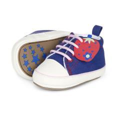 Baby Mädchen Schuhe Krabbelschuh Erdbeere, blau - 2301715