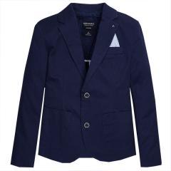 Jungen Blazer festliche Jacke Anzugsjacke, dunkelblau - 6444