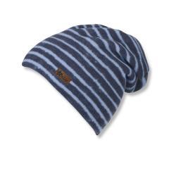 Jungen Mütze Slouch Beanie Micro-Fleece gestreift von Sterntaler, dunkelblau - 4521707