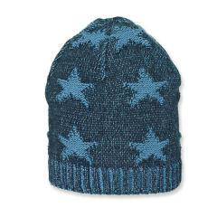 Jungen Sommermütze Strickmütze, dunkelblau Sterne - 1701910