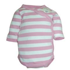 Wickelbody Mädchen Baby, weiß-rosa