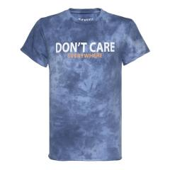 "Jungen T-Shirt Sommershirt kurzarm ""Don´t care everywhere"" ,blau -2211-6117"