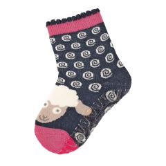"""Mädchen Baby Fliesen Flitzer Soft Vollplüsch Anti-Rutsch-Socken gefüttert mit ABS-Sohle, marineblau """"Schaf"""" - 8141912"""