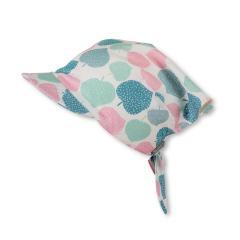 Mädchen Kopftuch mit Schirm, weiß, gemustert - 1451930