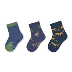 Jungen Baby Socken Dreierpack Tiermotive, marine -8322120