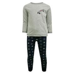 Jungen Zweiteiliger Schlafanzug Lang, Grau - 231993