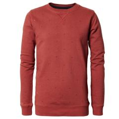 Jungen Pullover Jersey Sweatshirt Langarmshirt mit Muster, rot - B-PS19-SWR383r