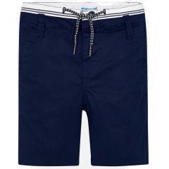 Stoffhose Jungen im Bermuda-Stil, dunkelblau - 3.229-40