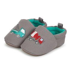 Baby Jungen Schuhe Krabbelschuhemit LKW-Motiv, grau - 2301854