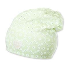 Sterntaler grüne Beanie für Mädchen mit Blumenmuster - 1411763