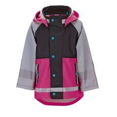 """Sterntaler Mädchen Regenjacke mit Verstärkung und abnehmbarer Kapuze und Taschen 3000 mm Wassersäule ungefüttert """"outdoor"""", pink – 5652020"""
