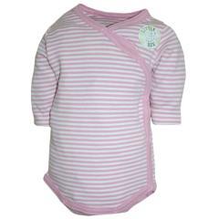 Wickelbody Baby Mädchen, weiß-rosa