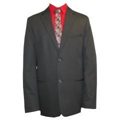 festlicher Jungen Anzug Jacket und Hose slim, schwarz
