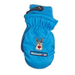 Fäustlinge Kinder Handschuhe Jungen gefüttert, Rentier, blau - 9506802b