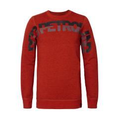 Jungen Pullover Sweater Sweatshirt Langarmshirt Petrol Ind., rot mel. - B-3090-SWR344