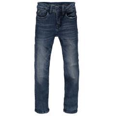 Jungen Jeans Hose Garcia Baumwolljeans 370 Xevi superslim fit mit verstellbarem Bund, blau used - 370-3097
