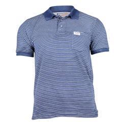T-Shirt Poloshirt Jungen Kurzarm gestreift, blau