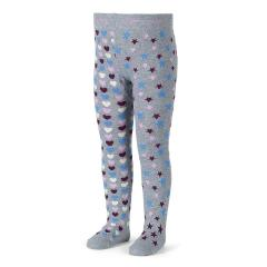 Baby Mädchen Strumpfhose Sternenmuster, grau - 8701604gr
