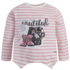Mädchen Langarmshirt Shirt mit langen Ärmeln, rosa - 4045r