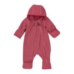 Baby Overall Mädchen Fleece mit Reißverschluss, beerenrot mel. - 5501800