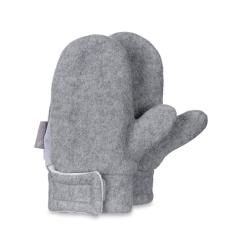 Jungen Fäustlinge Handschuhe Fleece, hellgrau - 4301420