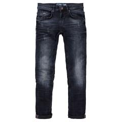 Jungen Hose Denim-Jeans mit verstellbarem Bund Slim Fit used look Petrol Ind., dunkelblau - B-3090-DNM002