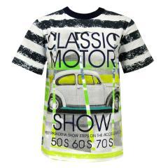Jungen Kids T-Shirt Kurzarmshirt Auto Motiv, bunt - 503031