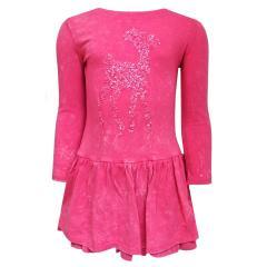 Mädchen Kids Winterkleid Kleid mit langen Ärmeln, pink - 963134