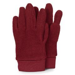 Mädchen Handschuhe Fingerhandschuhe Microfleece, dunkelrot mel. - 4331410