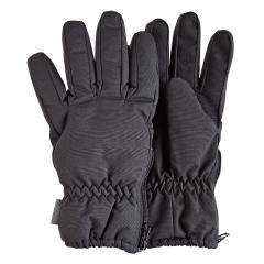 Jungen Fingerhandschuhe gefüttert mit Isolierung und Microfleecefutter, seitlicher Reißverschluss, wasserdicht, atmungsaktiv, eisengrau – 4322010