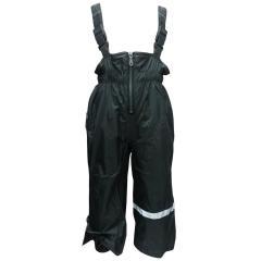 Mädchen Regenhose mit Latz und Fleece Wasserundurchlässig Matschhose, anthrazit - 7485990