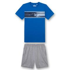 "Jungen Schlafanzug kurz, blau ""Racing"" - 244438"