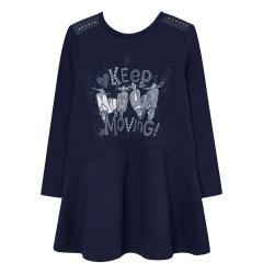 Mädchen Winterkleid Kleid Pullover Kleid, dunkelblau - 7935b