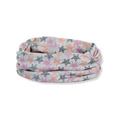 """Mädchen Kinder Baby Allrounder Loop LSF UV-Schutz 50+ Baumwolltuch """"Sterne"""", silbergrau, pink– 1522053"""