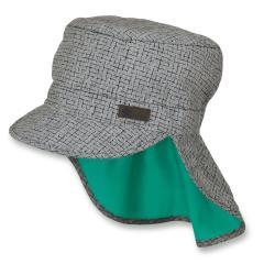 Jungen Schirmmütze mit Nackenschutz, Sommermütze, LSF 50+, grau - 1621925