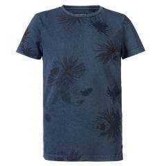 Jungen T-Shirt, Kurzarmshirt, Petrol Ind., dunkelblau - TSR633