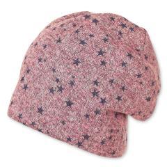 Mädchen Baby Wintermütze Winterbeanie mit Baumwollfeece-Futter Sternchen, rosa lila - 4411902