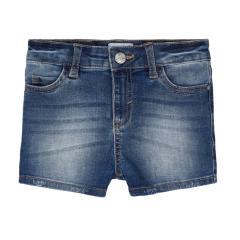 Mädchen kurze Jeans Sommerhose mit verstellbarem Bund Shorty, jeansblau - 236.