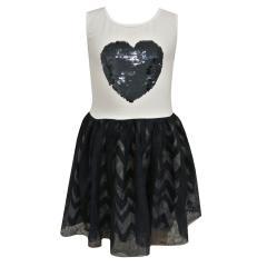 Mädchen Sommerkleid Abendkleid festliches Kleid, blau-weiß - 971322