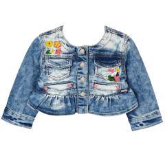 Mayoral Mädchen Jeansjacke mit Blumenverziehrung, jeans - 1.416