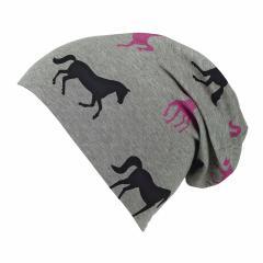 """Mädchen Mütze Slouch-Beanie """"Pferde"""" gefüttert, grau - 4421819"""