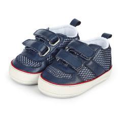 Baby Jungen Schuhe Krabbelschuhe Klettverschluss, dunkelblau - 2301922