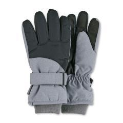 Jungen Handschuhe Fingerhandschuhe wasserabweisend mit Klettverschluss und Thinsulate-Inlet gefüttert mit wärmendem Futter, silber - 4322110