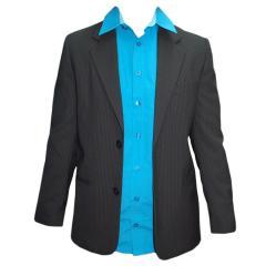 festlicher Jungen Anzug Jacke und Hose, schwarz-gestreift