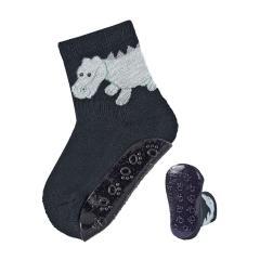 "Baby Jungen Anti-Rutsch-Socken Fliesen Flitzer AIR ""Drache Konrad"", marineblau - 8151981"