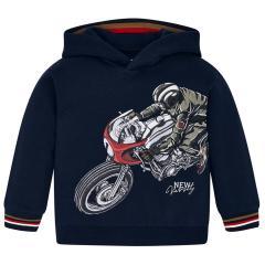 "Jungen Kids Sweatshirt Kapuzen-Pullover Langarmshirt, dunkelblau ""Motorrad"" - 4.429"