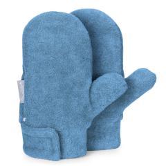 Jungen Fäustlinge Handschuhe gefüttert Microfleece mit Klettverschluss einfarbig, mittelblau mel. - 4301420